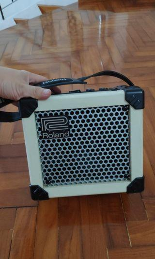 Roland Microcube Guitar Amplifier (cream color)