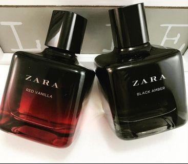 Zara red vanilla & zara Black amber 100ml ORI