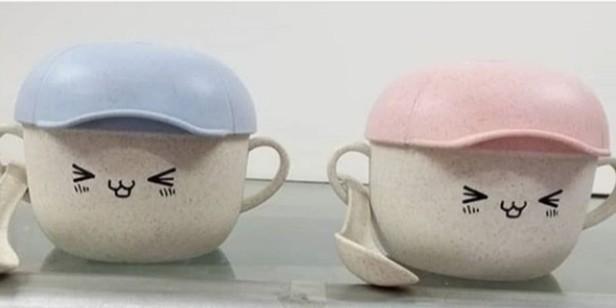Gelas mangkuk topi / gelas mangkuk sendok / Kado unik
