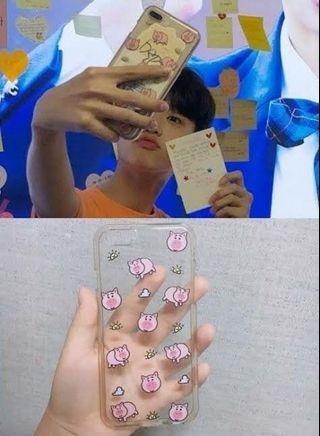 Son Dongpyo pig case replika (Xiaomi Redmi 4x) + bonus
