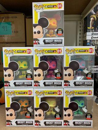 Colored Mickey Mouse set of 7