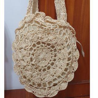 峇里島度假海灘風編織側背包