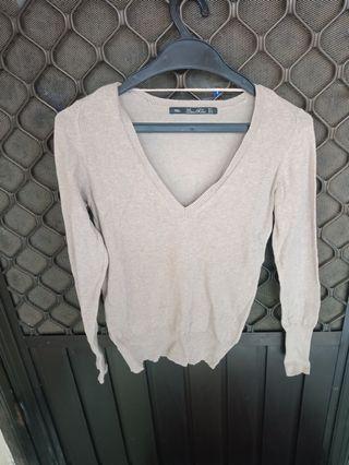 Preloved! Zara knit top brown
