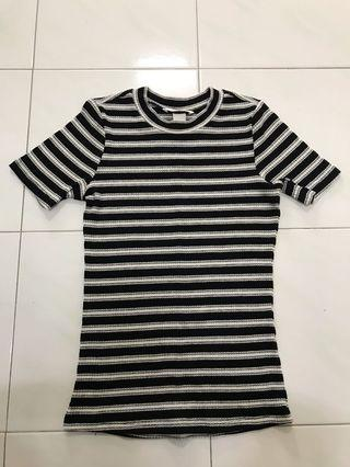 H&M knitted stripes top