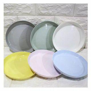 Piring warna pastel 6pcs
