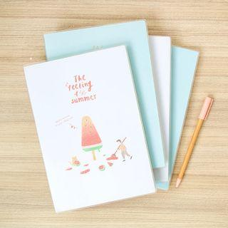 Summer Taste Thick Ruled Notebook A5