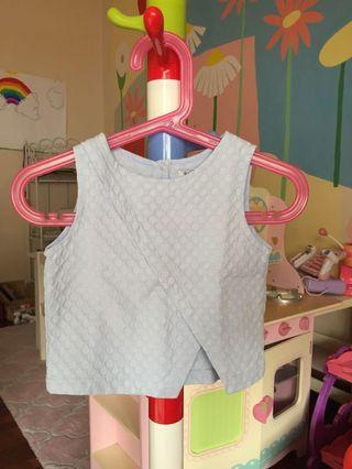 Textured Boxy Top & Shorts Set in Baby Blue