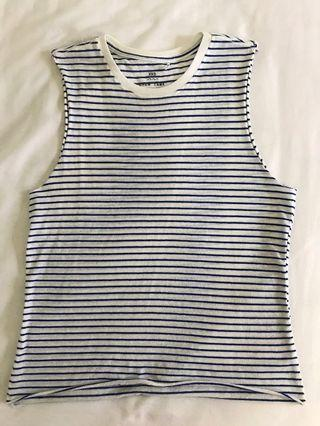 Factorie Stripes Muscle Tank Top