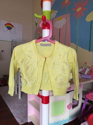 Lace Cardigan in Summer Yellow