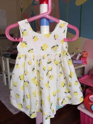 Baby Summer Dress with Yellow Floral