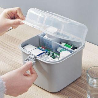 【現貨】醫藥箱 藥箱 家庭裝 收納盒 多層收納 小朋友收納盒 幼兒小醫藥箱 小收納箱 桌上收納 小物收納箱
