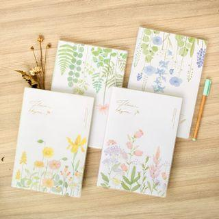Flower Rhyme Thick Ruled Notebook B5