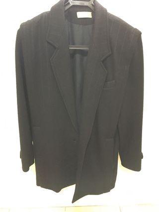 黑色西裝厚外套