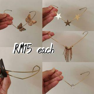 [Stock Clearance] Golden Headchain, Star, Butterfly, Casual, Diamond, Eygypt Style