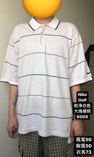 Nike polo條紋古著