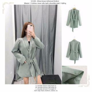 Olive Green Informal (S,M,L) Blazer -51129