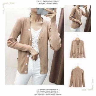 Tan Knitted (S,M,L) Cardigan -51099
