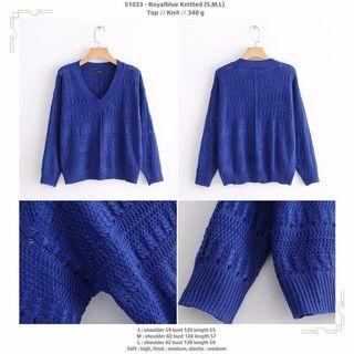 Royalblue Knitted (S,M,L) Top -51033