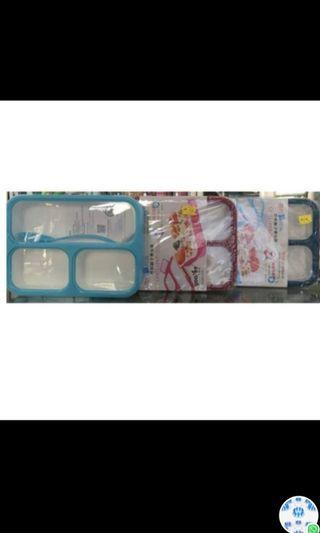 Yooyee sekat 3 grid polos / lunch box BPA free