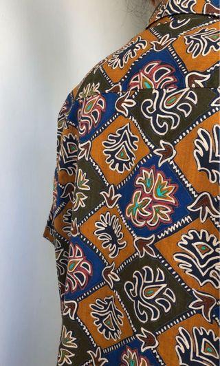 Vintage 法國製花磚襯衫