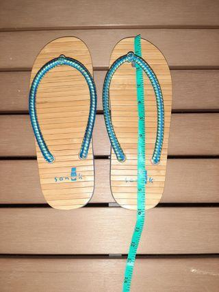 Sanux Bamboo Footbed FlipFlops