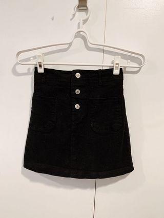 260元🉐️全新 Pufii後鬆緊腰A字裙 黑色 短裙 中等M到棉花糖XL皆可駕馭  #五折清衣櫃
