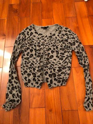 MANGO 毛料豹紋針織外套 暖