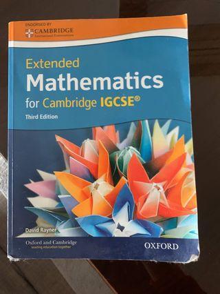 Cambridge extended mathematics