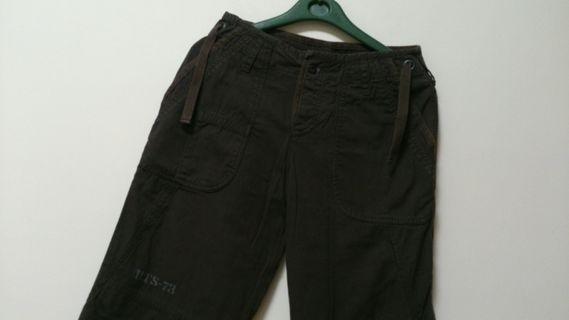 Roots深咖啡色休閒長褲(腰28吋)