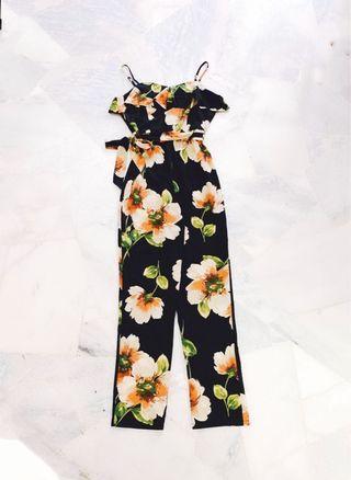 Black Florist Jumpsuit / Romper (Ready stocks sold out, pre order available)
