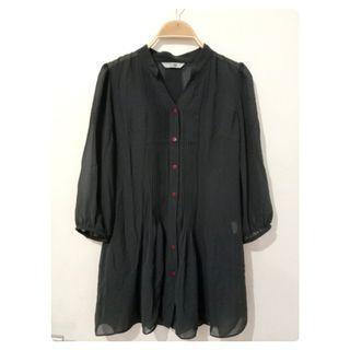 Grey blouse | grey top | sheer blouse | sheer top | outerwear
