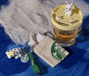 Starbucks 2019 Mid Autumn Bunny Mini Bag with Keychain