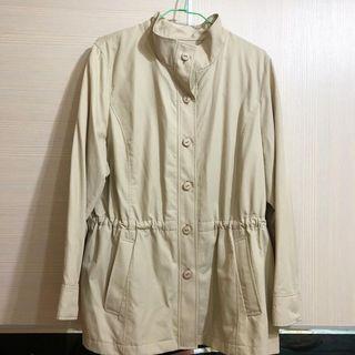 日本購入🇯🇵米色縮腰風衣外套