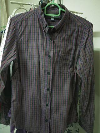 Uniqlo checkered shirt kemeja