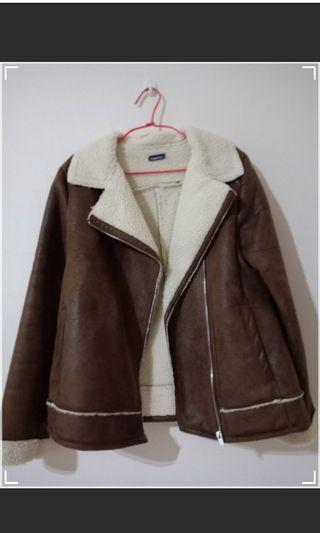 內刷毛棕色外套 #五折清衣櫃