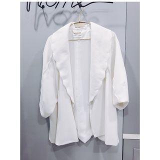 [二手 免運]日本正品 Snidel 造型花邊花苞袖七分袖外套