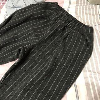刷毛條紋老爺褲