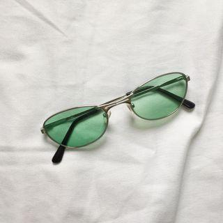 Tinted green glasses