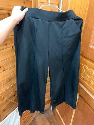 黑色 彈性寬褲 薄款 舒適