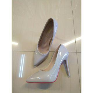 漆皮淺口細跟高跟鞋時尚尖頭職業ol單鞋