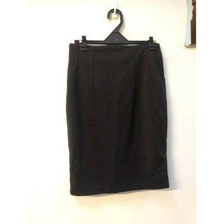 包臀短裙半身裙職業中長款修身裹裙OL(黑M)