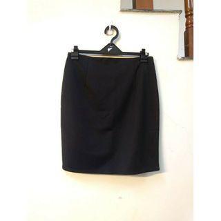 韓版顯瘦純色高腰裙包臀職業半身裙(S)