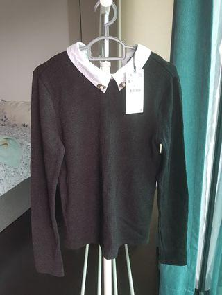 Zara knit top with collar - Brand New!