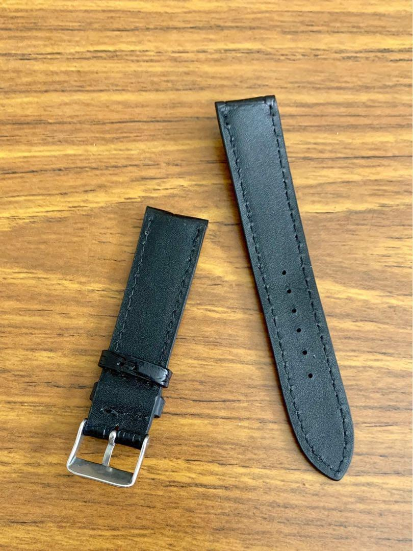 20mm/18mm Authentic Ebony Black Alligator Crocodile Watch Strap (special grains) #MRTHougang #MRTSerangoon #MRTSengkang #MRTPunggol #MRTRaffles #MRTBedok #MRTTampines #MRTCCK #MRTJurongEast #MRTYishun