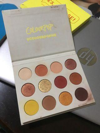 Used authentic colourpop yes please palette