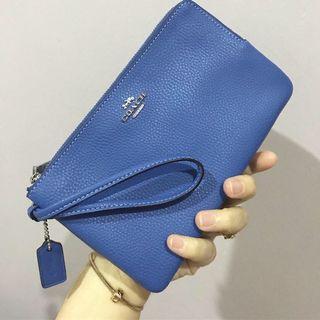 Coach double zip large wallet wrislet