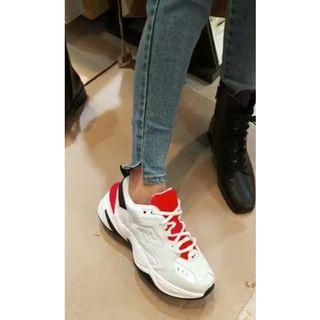 熱賣缺貨款!韓妞人手一雙!Nike M2K TEKNO復古白橘配色!老爹鞋復古運動休閒球鞋AO3108-401韓國代購