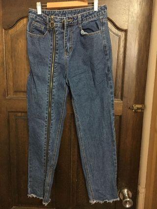 造型拉鍊牛仔褲