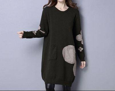 韓版羊絨長毛衣 洋裝