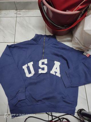Vintage USA half zipper sweater like polo sport